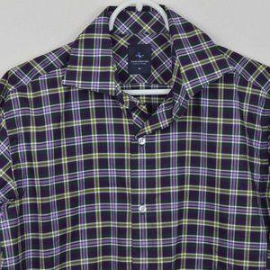 Tailorbyrd Plaid Shirt Medium Button Up Cotton